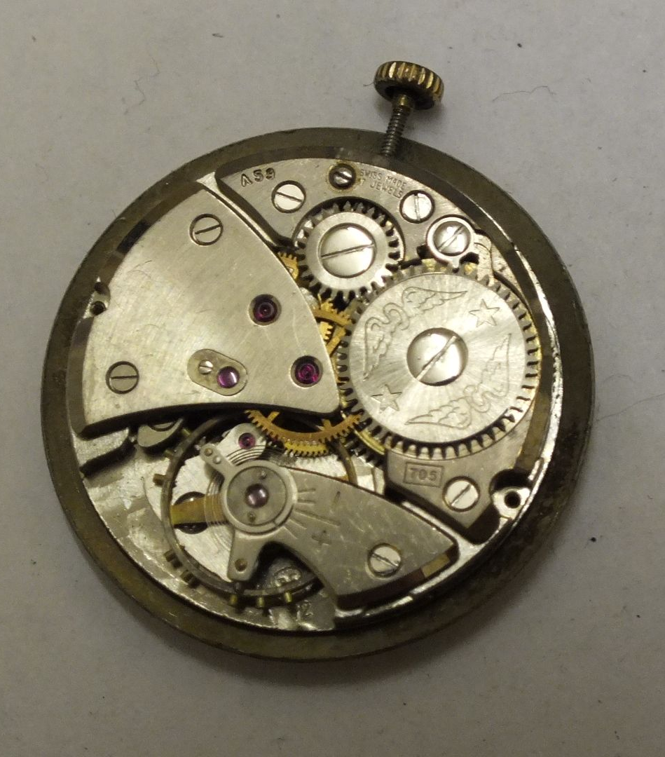 Rotary 17 Jewel Gents Movement And Dial Fhf Cal 72 For